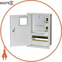 Корпус e.mbox.stand.w.f1.16.z.e металевий, під 1-ф електронний лічильник, 16 мод., вбудовуваний, з замком