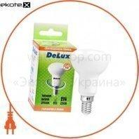 лампа светодиодная DELUX FC1 6 Вт R50 2700K 220В E14 теплый белый