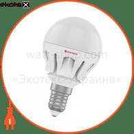 Лампа светодиодная шар LB-14 6W E14 2700K алюм. корп. A-LB-0305