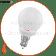 Лампа светодиодная шар LB-5 4W E14 4000K алюмопласт. корп. A-LB-1808
