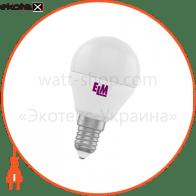 Лампа светодиодная шар PA10 6W E14 4000K алюмопласт. корп. 18-0014