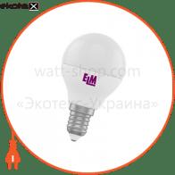 Лампа светодиодная шар PA11 4W E14 4000K алюмопласт. корп. 18-0016
