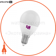 Лампа светодиодная шар PA11 6W E14 4000K алюмопласт. корп. 18-0032