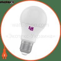 Лампа светодиодная стандартная B60 PA-10 8W E27 2700K алюмопл. корп. 18-0039