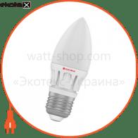 Лампа светодиодная свеча LC-16 6W E27 2700K алюм. корп. A-LC-0259