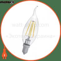 Лампа светодиодная свеча на ветру LC-4F 4W E27 3000K A-LC-0414