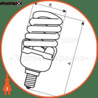 лампа энергосберегающая fc-111 15w e14 4000k  - a-fc-1225 энергосберегающие лампы electrum Electrum