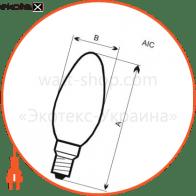 лампа светодиодная свеча lc-12 6w e14 3000k алюмопластиковый корп.  a-lc-1007 светодиодные лампы electrum Electrum A-LC-1007