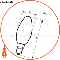 лампа светодиодная свеча на ветру lc-12 7w e14 2700k алюмопл. корп. a-lc-0518 светодиодные лампы electrum Electrum A-LC-0518