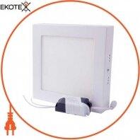 Светильник светодиодный накладной e.LED.MP.Square.S.12.4500. квадрат, 12Вт, 4500К, 840Лм
