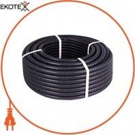 Труба гофрированная тяжелая (750Н) e.g.tube.pro.19.25 (50м).black, черная