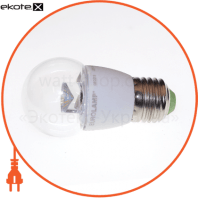 LED лампа G45 5W E27 3000K прозора Eurolamp
