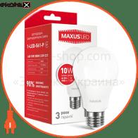 LED лампа MAXUS A60 10W мягкий свет 220V E27 (1-LED-561-P) (NEW)
