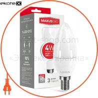 LED лампа MAXUS C37 CL-F 4W яркий свет 220V E14 (1-LED-5312) (NEW)