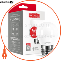LED лампа MAXUS G45 F 4W мягкий свет 220V E27 (1-LED-549) (NEW)