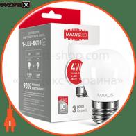 LED лампа MAXUS G45 F 4W яркий свет E27 (1-LED-5410)