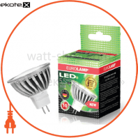 EUROLAMP LED Лампа Chrome MR16 4.5W GU5.3 3000K (50)