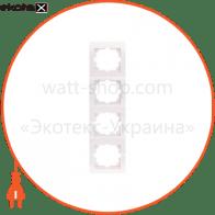 Рамка четырехместная DERIY вертикальная кремовый 702-0300-154