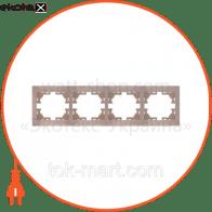 Рамка четырехместная MIRA горизонтальная кремовый 701-0300-149
