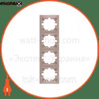 Рамка четырехместная MIRA вертикальная кремовый 701-0300-154