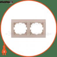 Рамка двухместная DERIY горизонтальная кремовый 702-0300-147