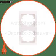 Рамка двухместная DERIY вертикальная кремовый 702-0300-152