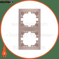 Рамка двухместная MIRA вертикальная кремовый 701-0300-152