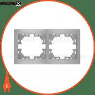Рамка Mira, 2-ая горизонтальная без вставки, металлик серый (701-1000-147)