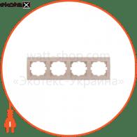 Рамка пятиместная DERIY горизонтальная белый 702-0200-150