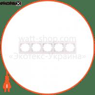 Рамка пятиместная DERIY горизонтальная кремовый 702-0300-150