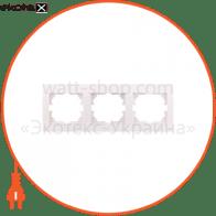 Рамка трехместная DERIY горизонтальная белый 702-0200-148