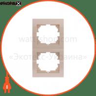Рамка трехместная DERIY вертикальная белый 702-0200-153