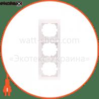 Рамка трехместная DERIY вертикальная кремовый 702-0300-153