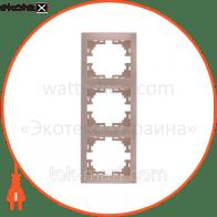 Рамка трехместная MIRA вертикальная кремовый 701-0300-153
