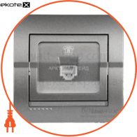 Розетка телефонная DERIY темно-серый металлик 702-2929-137