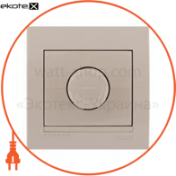 Светорегулятор поворотный DERIY 800Вт IP20 темно-серый металлик 702-2929-115
