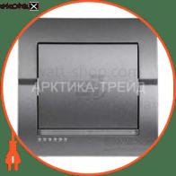 Выключатель одноклавишный DERIY без подсветки 10 А 250В темно-серый металлик 702-2929-100