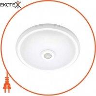 Светильник светодиодный потолочный с датчиком движения e.sensor.LED.77.12.4000(белый), 12вт, 4000К, 360°, IP20