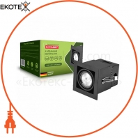 EUROLAMP Светильник карданный врезной для ламп GU10 black