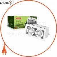 EUROLAMP Светильник карданный врезной для ламп GU10*2 white