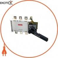 Выключатель-разъединитель нагрузки e.industrial.ukgz.500.3, 3р, 500А, с боковой рукояткой управления