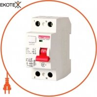 Выключатель дифференциального тока e.rccb.stand.2.40.30 2р, 40А, 30mA