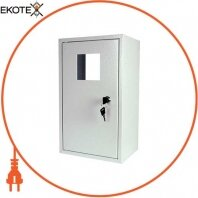 Корпус e.mbox.stand.n.f1.0.z металлический, под 1-ф. счётчик, пустой, навесной, с замком