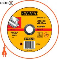 Круг отрезной DeWALT DT42400