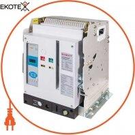Воздушный авт. выключатель e.acb.1000F.1000, стационарный, 0,4 кВ, 3Р, станд. Эл. расцепитель, мотор-привод и РН