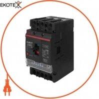 Силовой автоматический выключатель e.industrial.ukm.125Re.125 с электронным расцепителем, 3р, 125А
