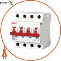 Модульный автоматический выключатель e.industrial.mcb.100.3N.D6, 3р + N, 6А, D, 10кА