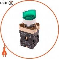 Переключатель с подсветкой e.mb.bk2365 на 2 фиксированных положения зеленый