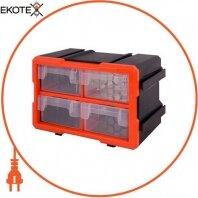 Органайзер наборной e.toolbox.20, 4-секционный