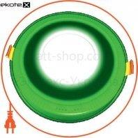 DownLight с подсветкой 6+3W встраиваемый круг, небо зеленый